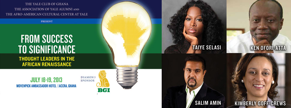 BGI LLC Proudly sponsors Yale Club of Ghana 2013 Cofernence