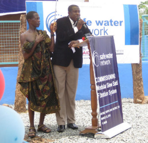 Speaking about Fresh Water in Ghana Africa
