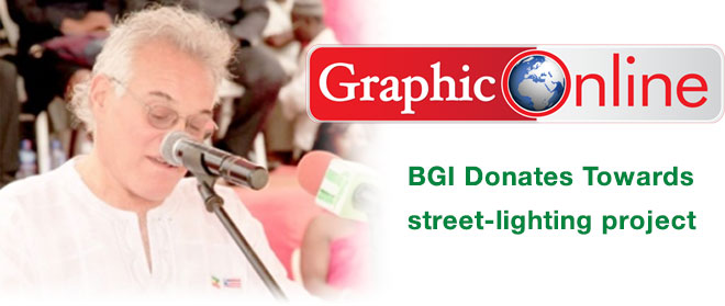 BGI donates towards street-lighting project in Gbawe